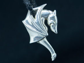 ❤ Dragon in Polished Silver