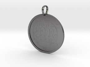 Paimon Medallion in Polished Nickel Steel