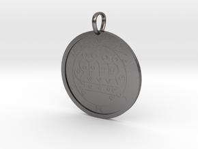 Paimon Medallion in Polished Nickel Steel