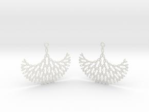 GT Earrings in White Natural Versatile Plastic