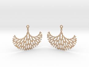 GT Earrings in Natural Bronze