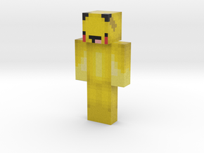 PikachuNoob | Minecraft toy in Natural Full Color Sandstone
