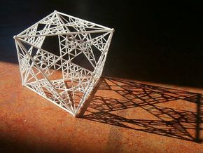 8 cm Octahedron in White Strong & Flexible