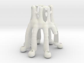 Octopus Arduino NEMA Motor Holder in White Natural Versatile Plastic
