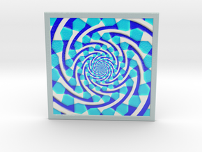 0178 Optical Illusion picture B (20cm) #004 in Glossy Full Color Sandstone
