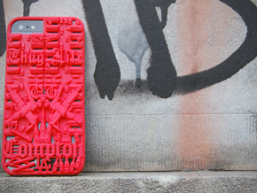 Compton iPhone 5 Cover in Red Strong & Flexible Polished