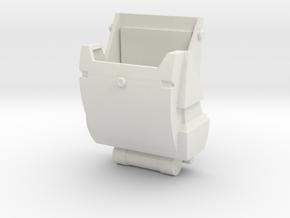 Clone Trooper Backpack in White Premium Versatile Plastic