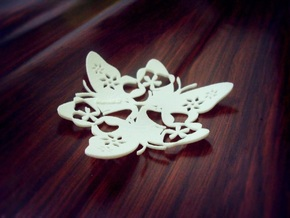 Butterfly Bowl 1 - d=8cm in White Natural Versatile Plastic