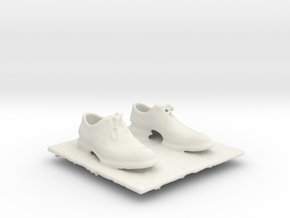 Gray Wingtip Shoes in White Natural Versatile Plastic