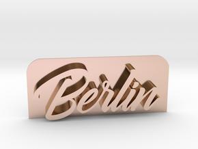 Berlin-GoldfingerKingdom_fixed in 14k Rose Gold Plated Brass