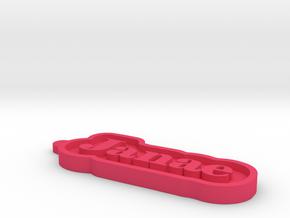 Janae Name Tag in Pink Processed Versatile Plastic