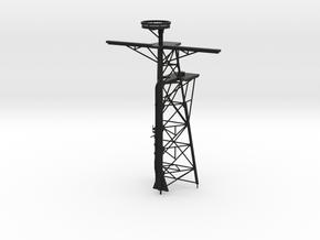 1/96 Scale Ticonderoga Mast #2 - Tall mast in Black Natural Versatile Plastic