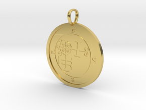 Buer Medallion in Polished Brass