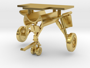 1/96 Rafale Aircraft Landing Gear in Polished Brass