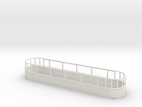 1:43 L.T Tram No 1-Part 5 in White Natural Versatile Plastic