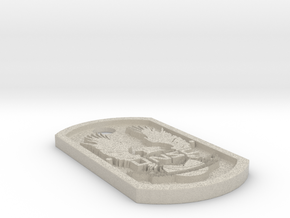 UNSC Halo Themed Dog Tag in Natural Sandstone