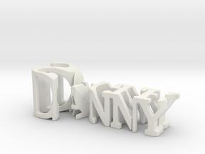 3dWordFlip: Danny/Sager in White Natural Versatile Plastic
