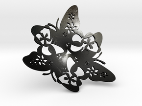 Butterfly Bowl 1 - d=32cm in Matte Black Steel