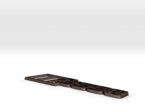 Ford Mustang S550 Tri-Bar Fender Badge - Outline in Polished Bronze Steel