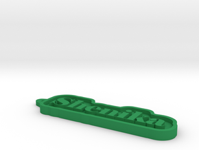 Shenika Name Tag in Green Processed Versatile Plastic