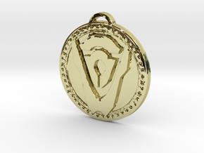 Hand of Argus Faction Medallion in 18K Yellow Gold