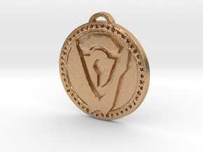 Hand of Argus Faction Medallion in Natural Bronze