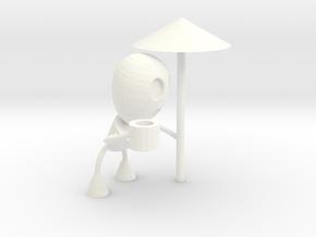 Spare some tea, Mister? in White Processed Versatile Plastic