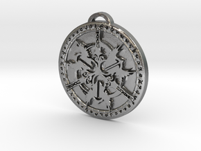 Warrior Class Medallion in Natural Silver