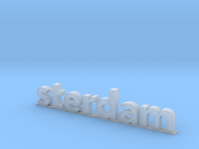 I amsterdam (2/2) in Smooth Fine Detail Plastic