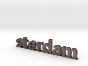 I amsterdam (2/2) in Polished Bronzed-Silver Steel