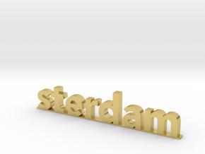 I amsterdam (2/2) in Polished Brass (Interlocking Parts)