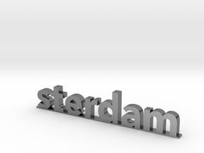 I amsterdam (2/2) in Polished Silver (Interlocking Parts)