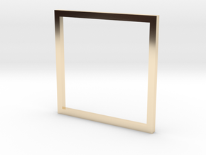 Square 15.70mm in 14K Yellow Gold