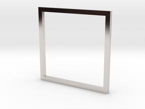 Square 16.00mm in Platinum