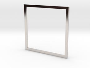 Square 19.84mm in Platinum