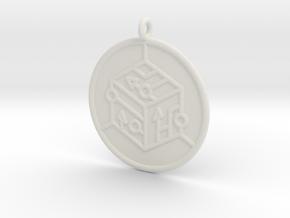 logic Symbol in White Natural Versatile Plastic