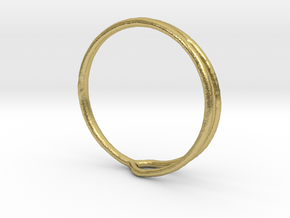 Ring 04 in Natural Brass