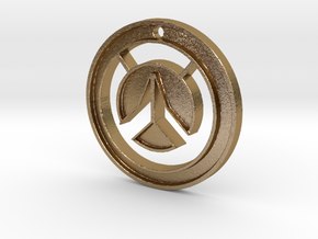 Overwatch Medallion in Polished Gold Steel