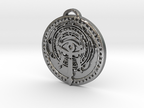 Mage Class Medallion in Natural Silver