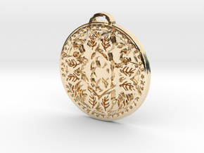 Druid Class Medallion in 14k Gold Plated Brass
