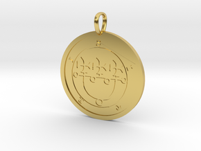 Sitri Medallion in Polished Brass