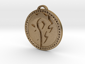 Horde Faction Pendant in Polished Gold Steel