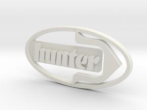 Hunter buggy badge in White Natural Versatile Plastic