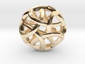Pentabraid Pendant in 14K Yellow Gold