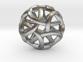 Pentabraid Pendant in Natural Silver