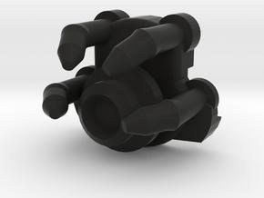 1-Crossguard-2.0 (Korbanth) Part-6 in Black Natural Versatile Plastic