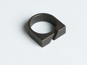Ring - Aybl in Polished and Bronzed Black Steel: 6 / 51.5