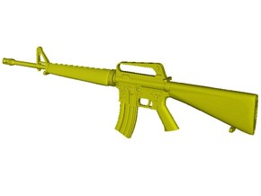 1/20 scale Colt M-16A1 rifle x 1 in Smooth Fine Detail Plastic