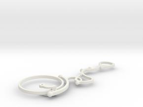 S-typeM40monocle in White Natural Versatile Plastic