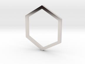 Hexagon 12.37mm in Platinum
